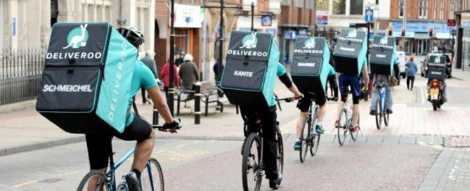 ciclistas de Deliveroo