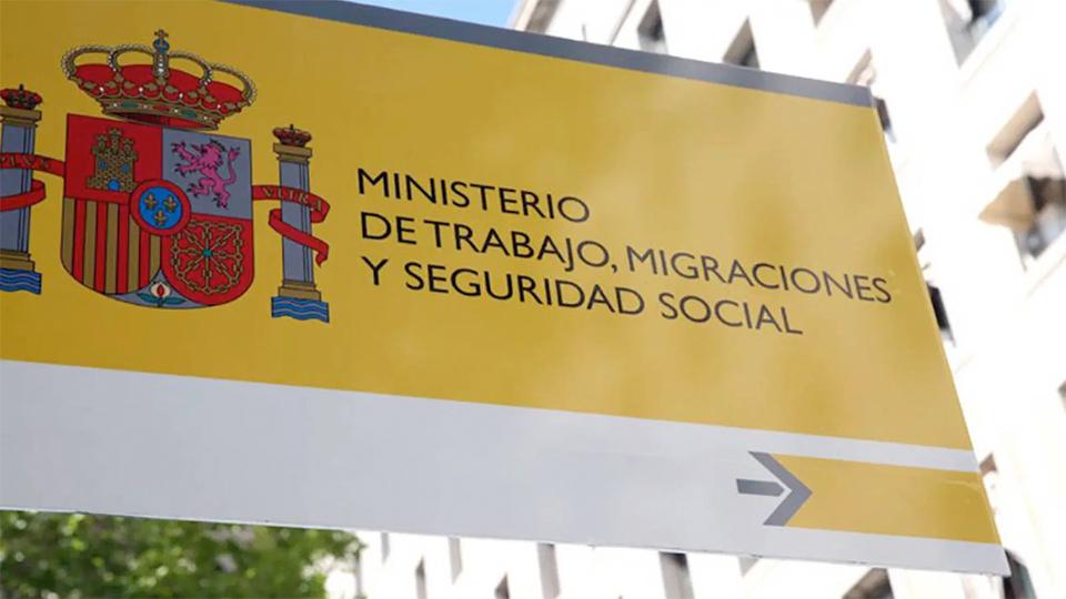 Cartel de señalización del Ministerio de Empleo y Seguridad Social