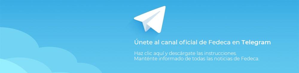 Únete al canal oficial de Fedeca en Telegram
