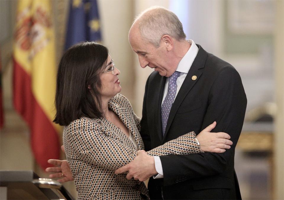 La ministra Carolina y el portavoz del Gobierno vasco, Josu Erkoreka
