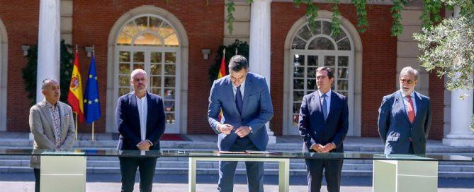 Los firmantes del acuerdo pensiones